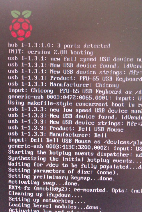 Raspberry Pi booting up